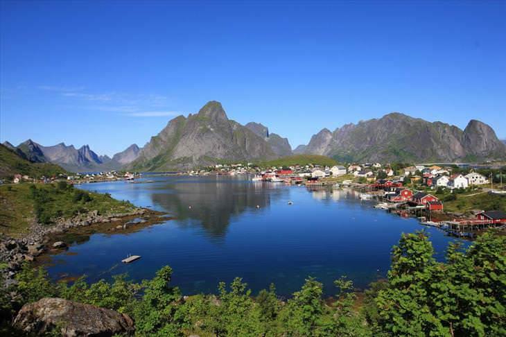 ciudades costeras alrededor del mundo Reine Noruega