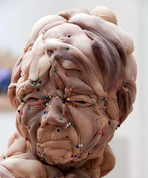 3. Esculturas de medias, hechas de pantimedias por la artista holandesa Rosa Verloop