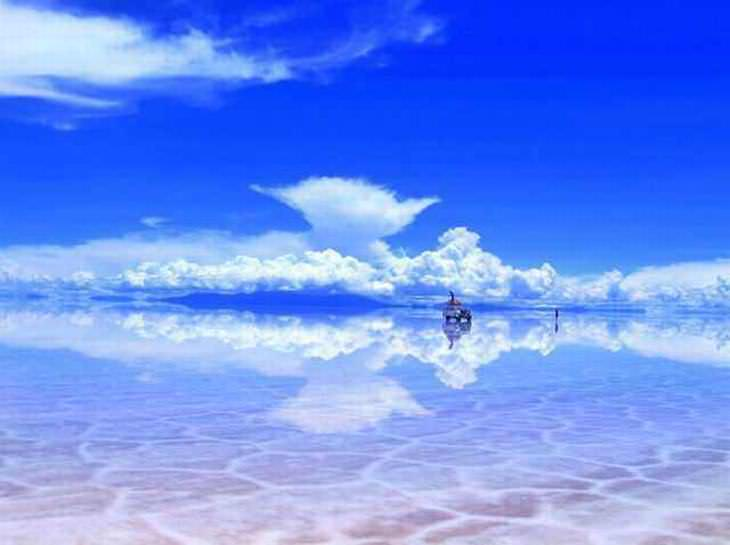 Salar de Uyuni después de un poco de lluvia