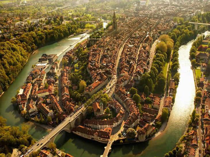 La hermosa Bern desde las alturas