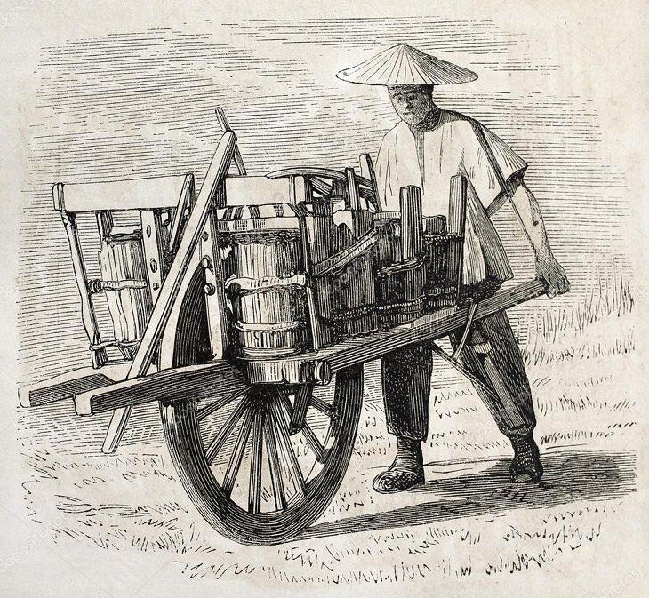 Inventos de la dinastía Han La carretilla
