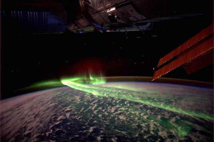 Aurora australina(luces del sur) desde el espacio