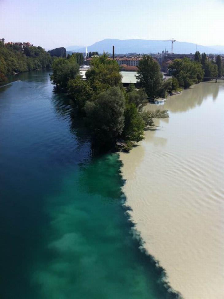 Cruce de ríos en Ginebra, Suiza