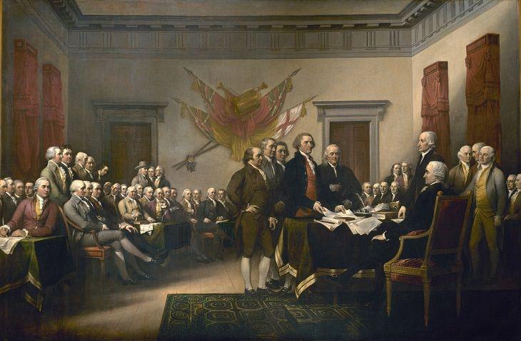 La historia detrás de obras de arte La Declaración de Independencia