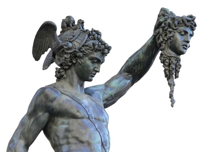 historia detrás de obras de arte Perseo con la cabeza de Medusa