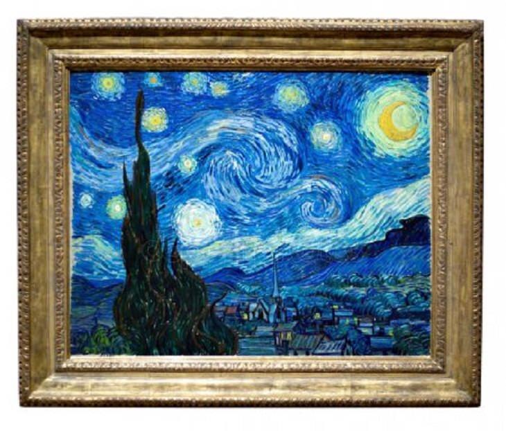 Historia detrás de obras de arte La noche estrellada sobre el Ródano