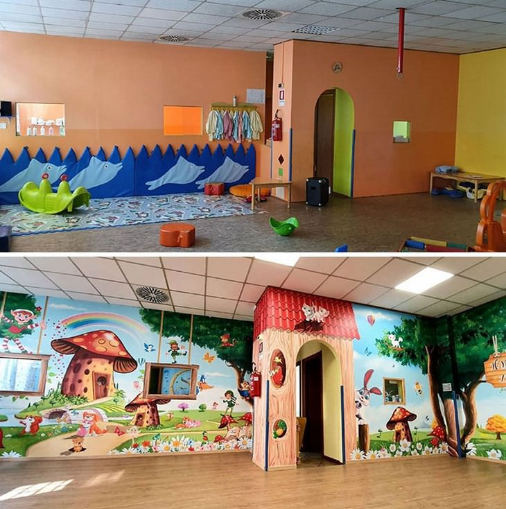 Hermosos murales en hospitales área infantil