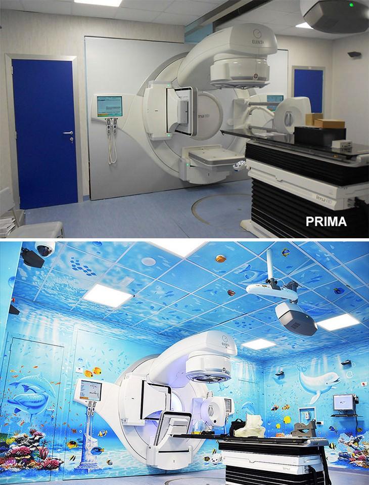 Hermosos murales en hospitales resonancia magnética