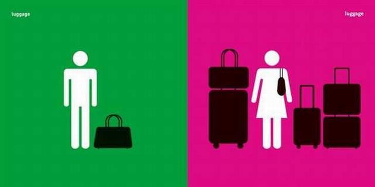 Diferencias Entre Hombres y Mujeres Cuando empacan