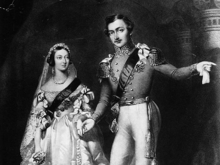 La Reina Victoria y el Príncipe Alberto de Sajonia-Coburgo y Gotha en el Palacio de San Jaime, 10 de febrero de 1840.