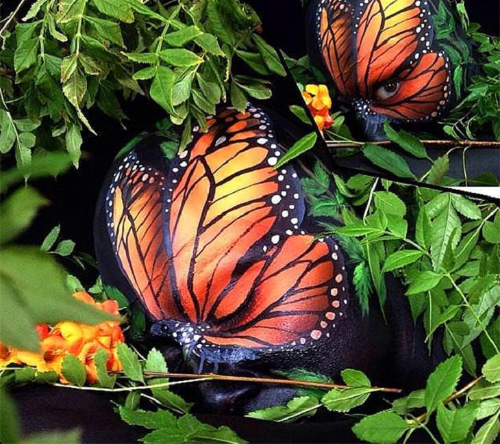 arte corporal mariposa