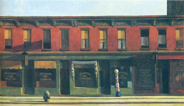 Pinturas de Edward Hopper Domingo temprano por la mañana 1930