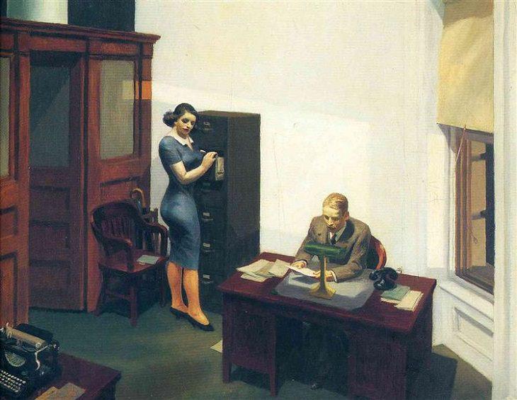 Pinturas de Edward Hopper Una oficina por la noche 1940