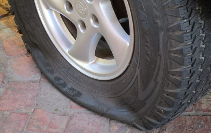 Selfseal tires: flat tire