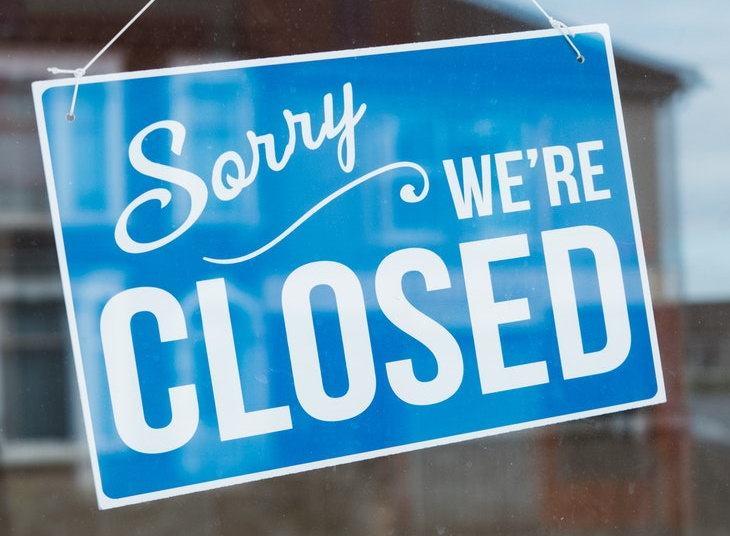 MIT Study Businesses That Should Reopen Last closed sign