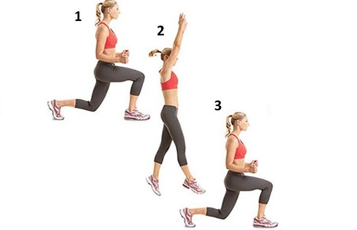 Ejercicios para fortalecer glúteos y piernas sentadilla de salto alternante