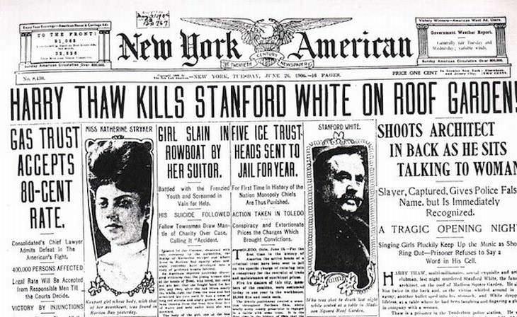 Los Juicios Más Famosos De La Historia Juicio por asesinato de Harry K. Thaw