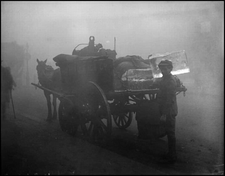 La Era Más Brumosa De Londres carro caballos