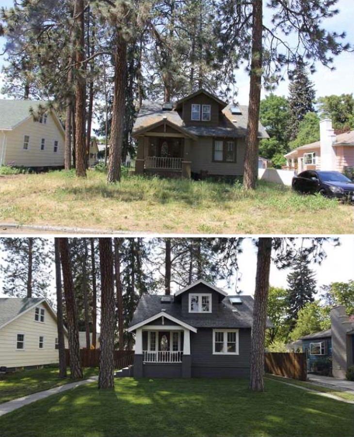 1. ¡Qué diferencia pueden hacer el mantenimiento del jardín y la pintura!