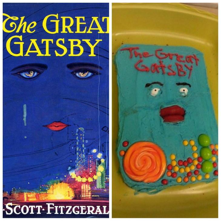 """Imágenes fallos en la repostería Este pastel de """"El gran Gatsby"""" no parece ser tan grandioso"""