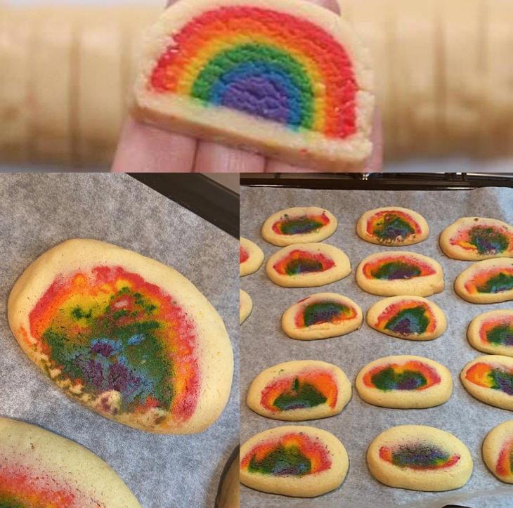 Imágenes fallos en la repostería Estas galletas en lugar de arcoíris parecen agujeros negros
