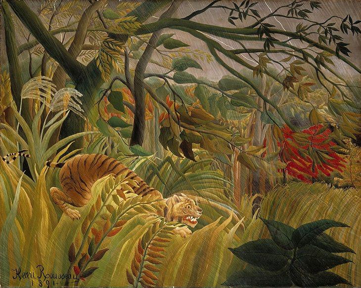 1. Tigre en una tormenta tropical (sorprendido), 1981, ahora en la National Gallery, Londres, Inglaterra
