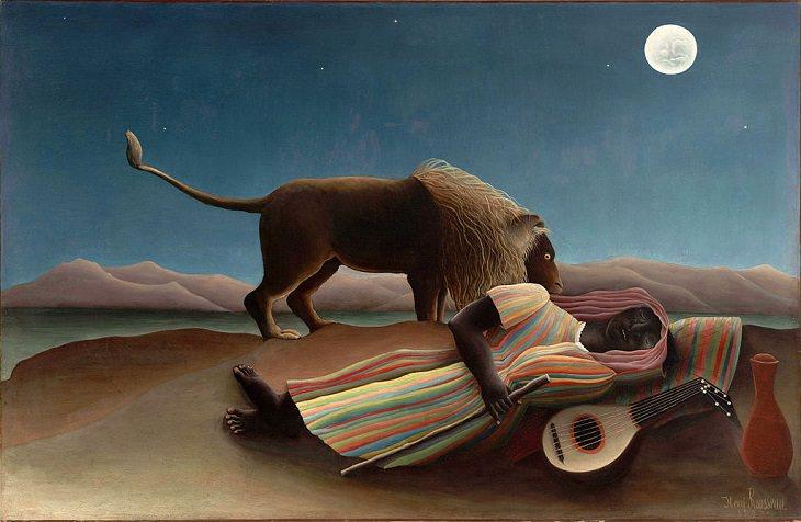 2. La gitana durmiente, 1897, ahora en el Museo de Arte Moderno