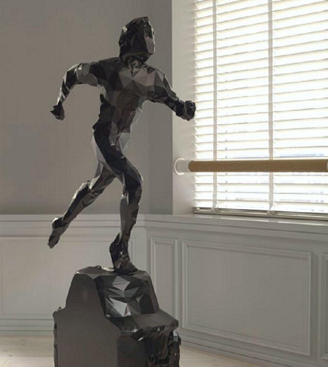 El Magnífico Arte En 3-D De Matthew Plummer Fernandez un trofeo
