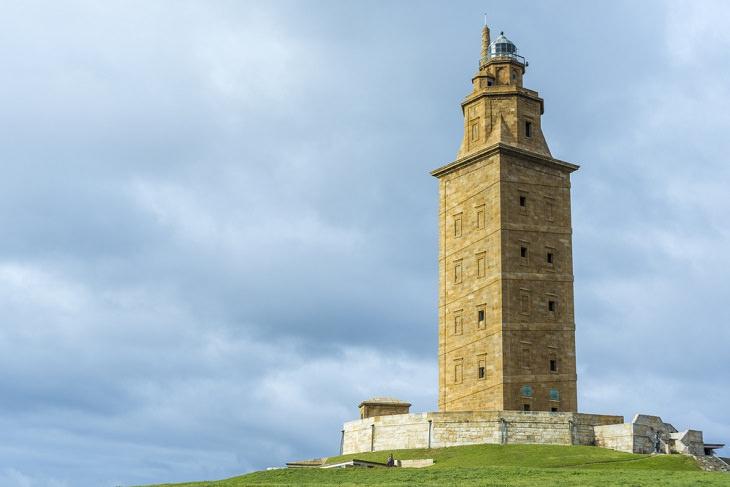 Sitios Antiguos Que Han Sobrevivido Al Paso Del Tiempo Faro de la Torre de Hércules, España