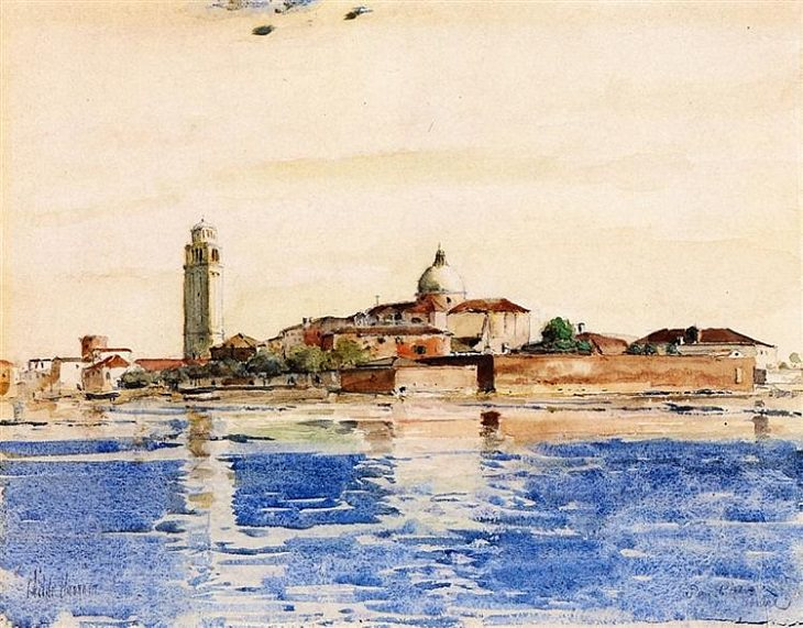 El Arte Impresionista De Childe Hassam San Pietro, Venecia