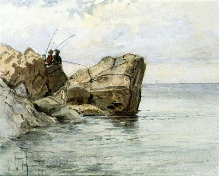 El Arte Impresionista De Childe Hassam El joven pescador