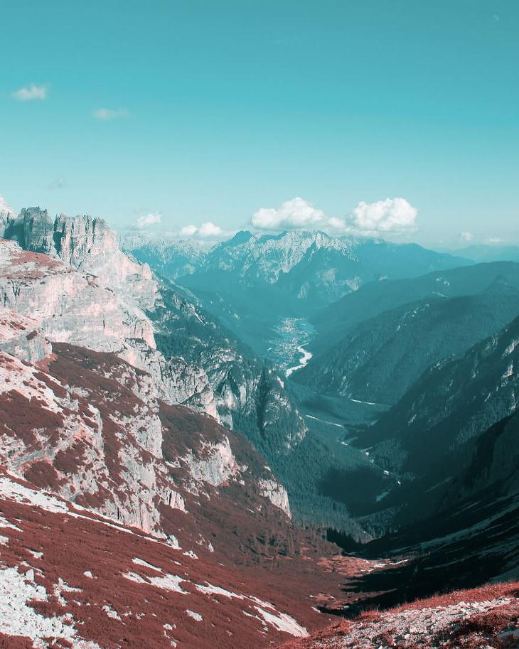 Cómo Es Ver El Mundo Desde Los Ojos De Un Daltónico montañas