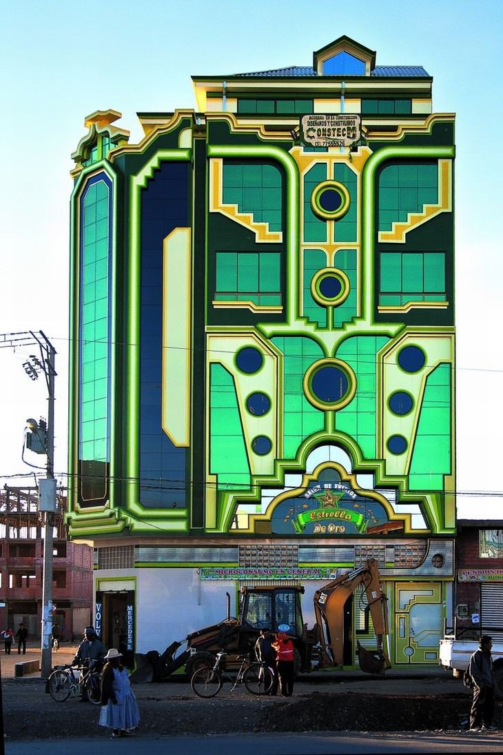 El Nuevo Estilo De Arquitectura Andina De Bolivia Edificio Estrella De Oro