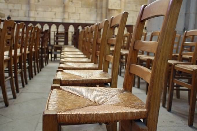 empty chairs in a hall