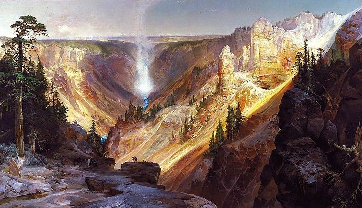 Pinturas de Thomas Moran Gran Cañón de Yellowstone (1904)