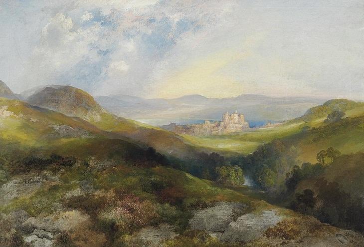 Pinturas de Thomas Moran Castillo de Conway (1882)