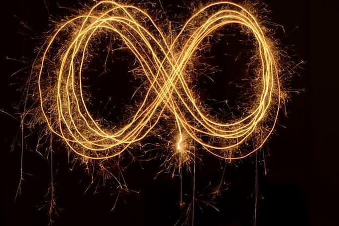 infinity symbol in flame