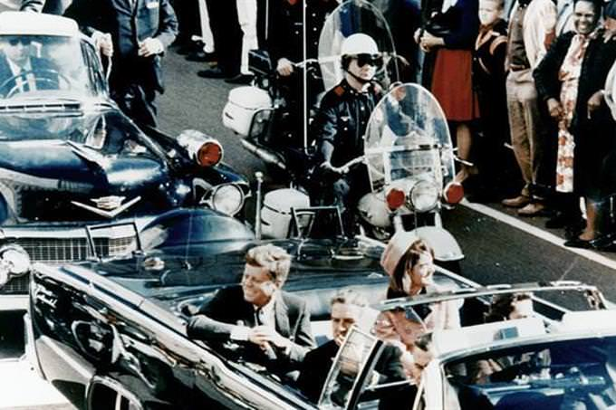 John Kennedy in car