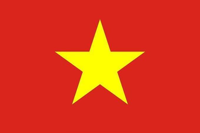 bandera roja con estrella