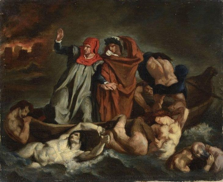 Arte Impresionista De Édouard Manet La barca de Dante, 1854-1858