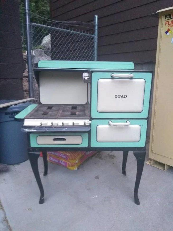 Objetos Vintage estufa Quad de 1920