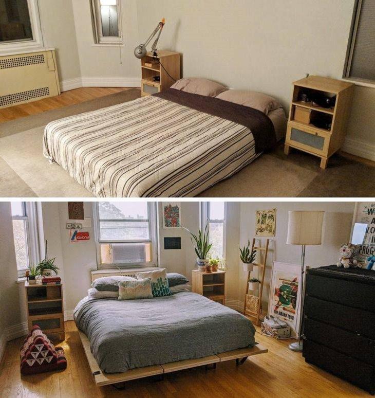 Renovaciones Caseras Antes y Depués Habitación