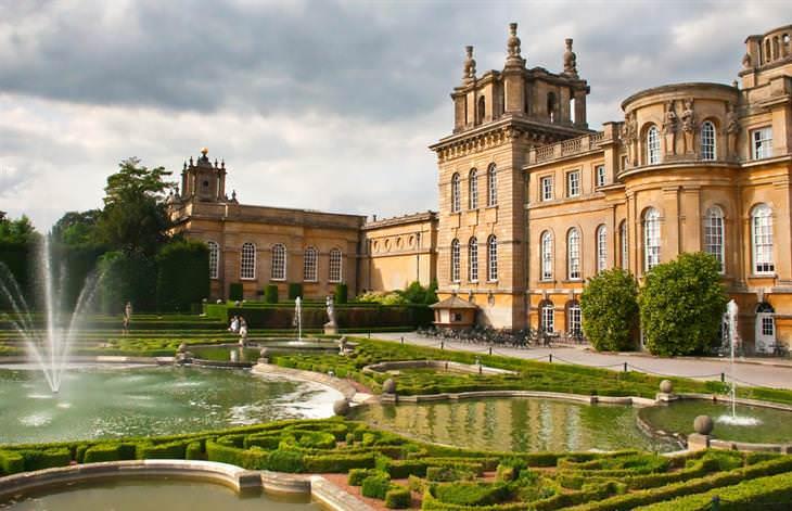 10 Bellos Sitios Patrimonio De La Humanidad En Inglaterra Palacio de Blenheim jardines