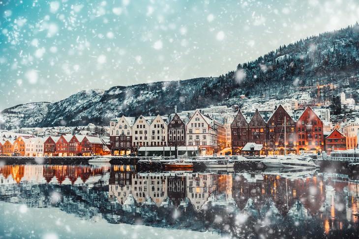 1. Una nevada en Brujas, Bélgica