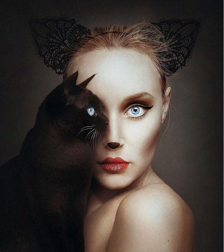 Fotos De Flora Borsi mujer con gato