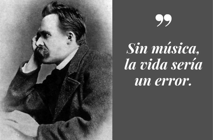 Frases Célebres De Friedrich Nietzsche Sin música, la vida sería un error