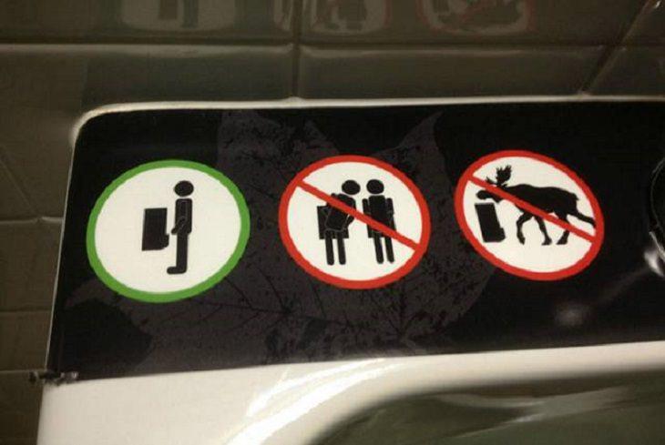 1. No se permiten alces en el baño