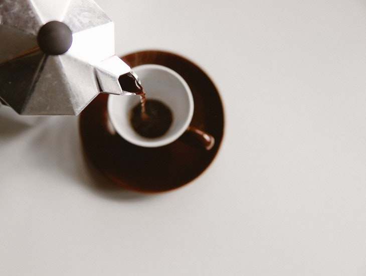 Feel Tired After Drinking Coffee pouring coffee from a moka pot