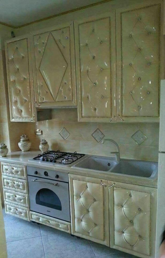 """2. El dueño de esta cocina pensó """"Quiero que mi cocina parezca un sofá"""""""