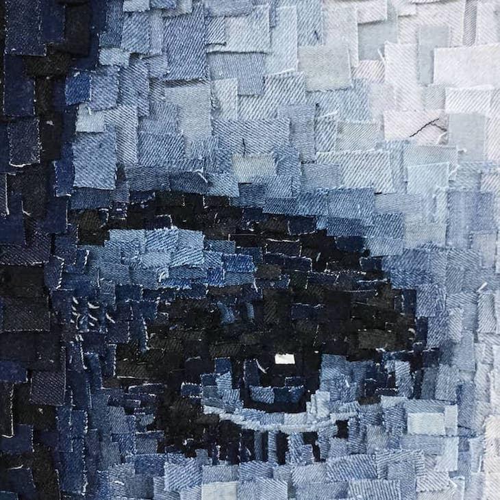 Arte En Mezclilla Twiggy ojo